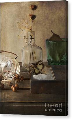 Still Life With Grasshopper Canvas Print by Elena Nosyreva