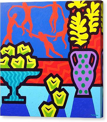 Still Life With Matisse Canvas Print by John  Nolan