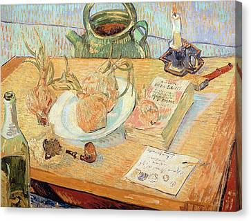 Still Life With Onions Canvas Print by Vincent van Gogh