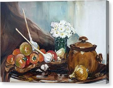 Still Life With Tomatos Canvas Print by Irek Szelag