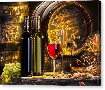 Still Life With Two Barrels.  Canvas Print by Tautvydas Davainis