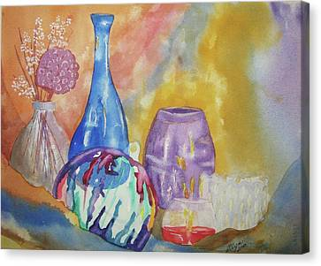 Still Life With Witching Ball Canvas Print by Ellen Levinson