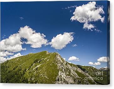 Stillness At The Peak Of Cimetta Canvas Print by Ning Mosberger-Tang
