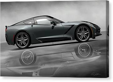 Stingray Returns Canvas Print by Peter Chilelli