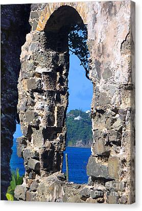 Stlucia - Ruins Canvas Print by Gregory Dyer
