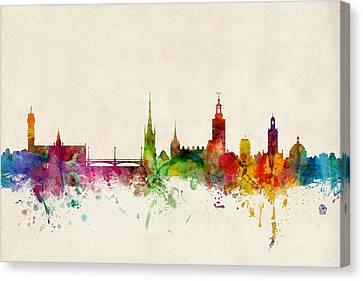 Stockholm Sweden Skyline Sverige Canvas Print by Michael Tompsett