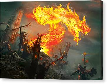 Stoke The Flames Canvas Print by Ryan Barger