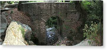 Stone Archway Panorama Canvas Print by Panos Spiliadis