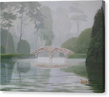 Stone Bridge Canvas Print by Leonard Filgate