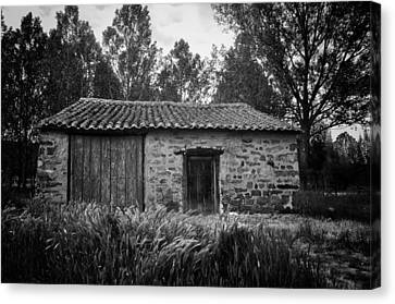 Stone Building Canvas Print by Tom Bell