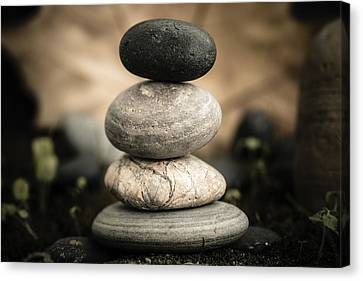 Stone Cairns I Canvas Print by Marco Oliveira