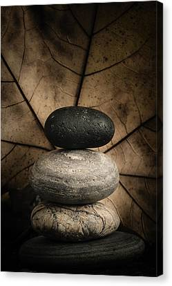Stone Cairns II Canvas Print by Marco Oliveira