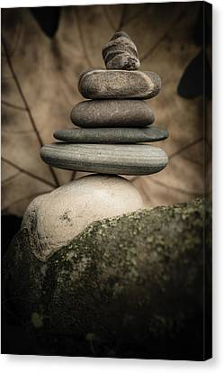 Stone Cairns Iv Canvas Print by Marco Oliveira