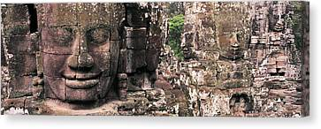 Stone Faces Bayon Angkor Siem Reap Canvas Print by Panoramic Images