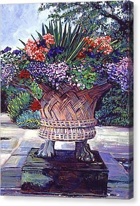Stone Garden Ornament Canvas Print by David Lloyd Glover