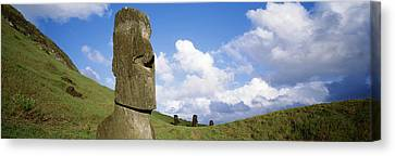 Stone Heads, Easter Islands, Chile Canvas Print by Panoramic Images