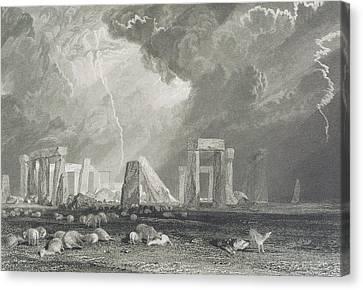 Stone Henge Canvas Print by Joseph Mallord William Turner
