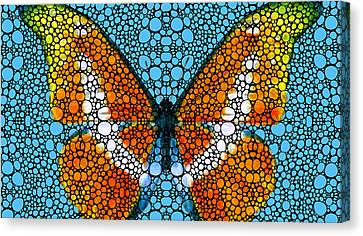 Stone Rock'd Butterfly By Sharon Cummings Canvas Print by Sharon Cummings