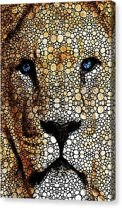 Stone Rock'd Lion 2 - Sharon Cummings Canvas Print by Sharon Cummings