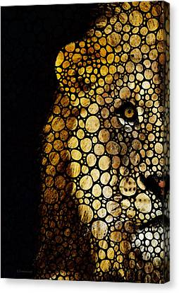 Stone Rock'd Lion - Sharon Cummings Canvas Print by Sharon Cummings