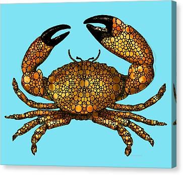 Stone Rock'd Stone Crab By Sharon Cummings Canvas Print by Sharon Cummings