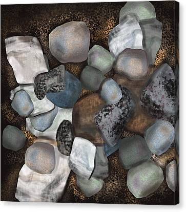 Stone Thoughts Canvas Print by Christine Fournier