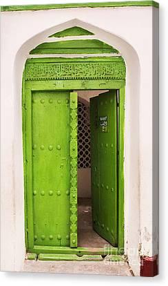 Zanzibar Green Door Canvas Print by Amyn Nasser