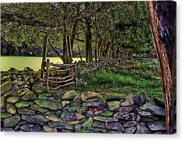 Stone Walled Canvas Print by Tom Prendergast