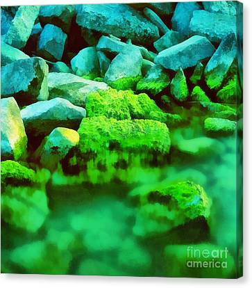 Stones In The Water Canvas Print by Odon Czintos