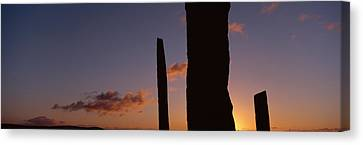 Stones Of Stenness, Orkney Islands Canvas Print by Panoramic Images