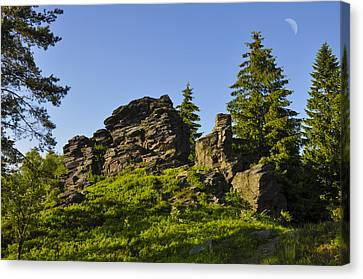 Stony Summit  Canvas Print by Aged Pixel