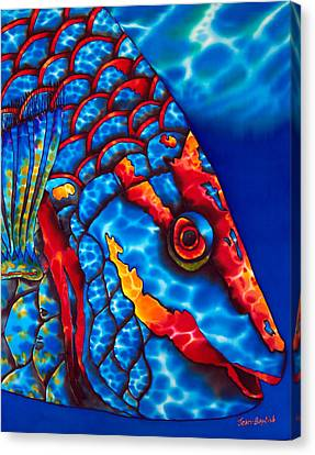 Stoplight Parrotfish Canvas Print by Daniel Jean-Baptiste