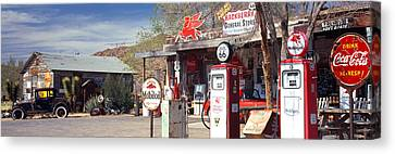 Store With A Gas Station Canvas Print by Panoramic Images