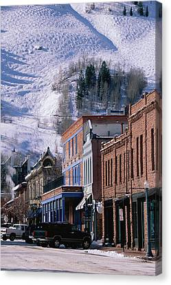 Storefronts, Aspen, Colorado Canvas Print by Panoramic Images