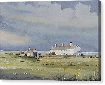 Storm Approaches St Aldhelm's Head Canvas Print by Oliver Pyle