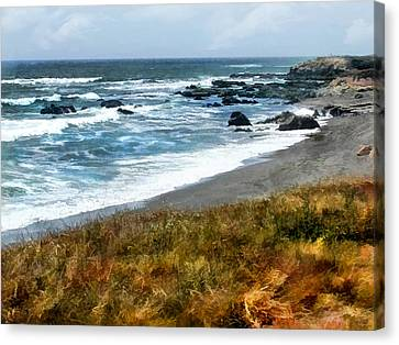 Storm Approaching Along The Central California Coast Canvas Print by Elaine Plesser