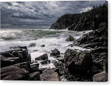 Storm At Gulliver's Hole Canvas Print by Marty Saccone