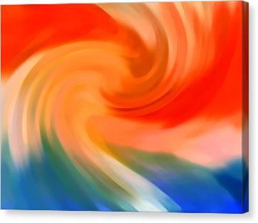 Storm At Sea 1 Canvas Print by Amy Vangsgard
