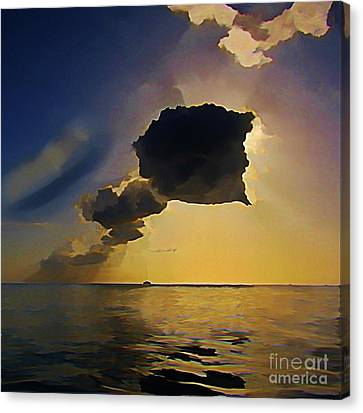 Storm Cloud Over Calm Waters Canvas Print by John Malone
