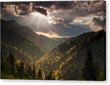 Storm Clouds Breaking Canvas Print by Andrew Soundarajan
