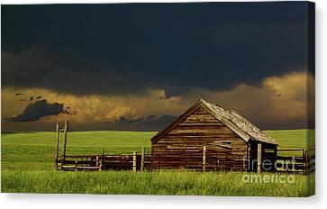 Storm Crossing Prairie 2 Canvas Print by Robert Frederick