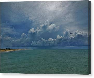 Storm Front North Avon 7/11/2014 Canvas Print by Mark Lemmon