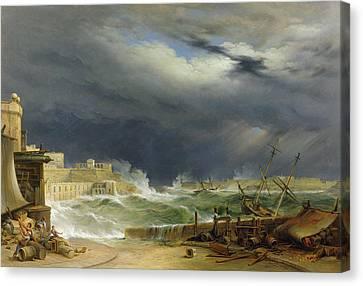 Storm Malta Canvas Print by John or Giovanni Schranz
