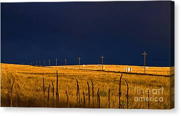 Storm Of Redemption Canvas Print by Barbara Schultheis