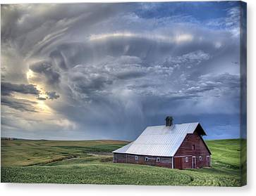 Storm On Jenkins Rd Canvas Print by Latah Trail Foundation