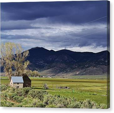 Storm On The Horizon Canvas Print by Bruce Bley