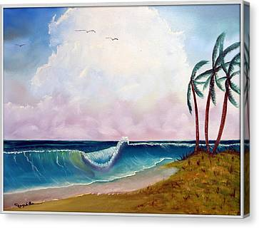 Storm On The Horizon Canvas Print by Joyce Krenson
