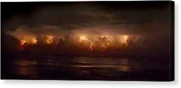 Storm On The Surf. Melbourne Shores. Canvas Print by Chris  Kusik