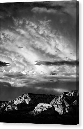 Storm Over Sedona Canvas Print by Dave Bowman