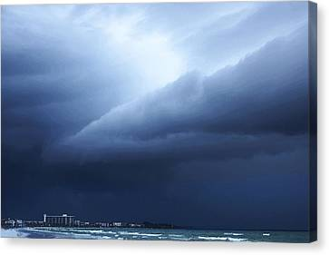 Storm Over Siesta Key - Beach Art By Sharon Cummings Canvas Print by Sharon Cummings